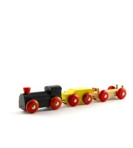Train et wagons en bois